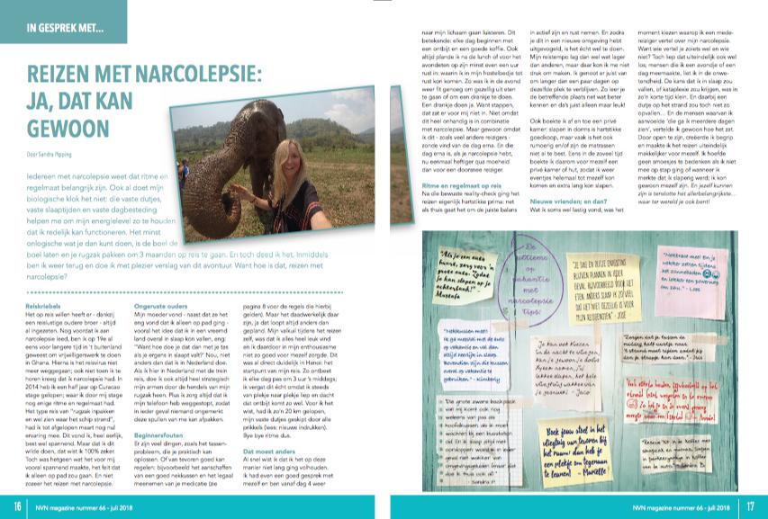artikel reizen met narcolepsie